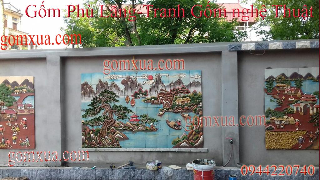 Tranh Gốm Đẹp   Tranh Gốm Phù Lãng chất lượng  Tranh gốm trang trí ốp tường