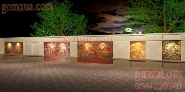 Mẫu thiết kế tranh gốm nghệ thuật đẹp nhất cho sân vườn