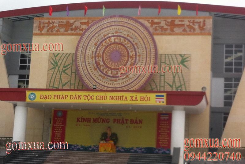 Mẫu tranh gốm nghệ thuật tại nhà văn hóa huyện Thường Tín