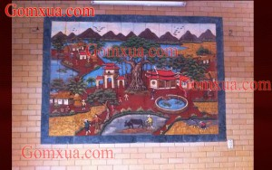 Tranh Gốm Đẹp | Tranh Gốm Phù Lãng chất lượng| Tranh gốm trang trí ốp tường