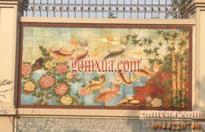 Tranh gốm Cửu ngư quần hội