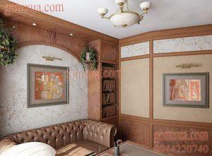 Tranh gốm đẹp trang trí phòng khách