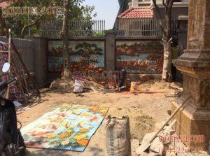 Tranh gốm đẹp trang trí sân vườn tiểu cảnh