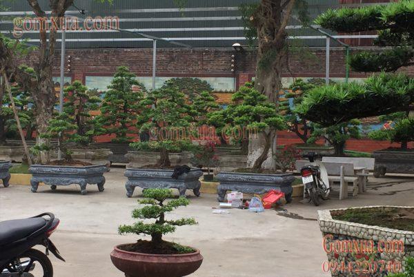 Tranh gốm đẹp trang trí sân vườn tiểu cảnh tại nhà chú Minh -Từ Sơn- Bắc Ninh