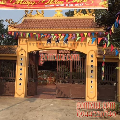 Tranh gốm đẹp trang trí tại đền chúa Thoải ở Sơn Tây Hà Nội