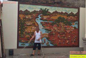 Tranh gốm đẹp trang trí tường đón khách