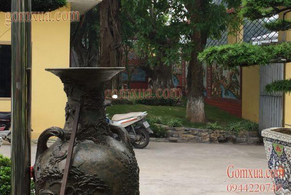Tranh gốm nghệ thuật trang trí sân vườn