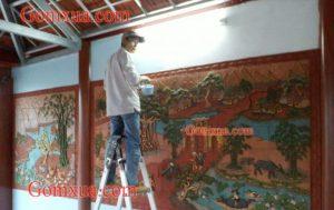 Mẫu tranh gốm đẹp trang trí nhà thờ họ đình chùa