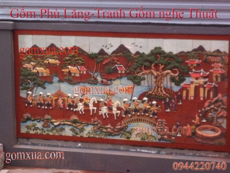 Mẫu tranh gốm đẹp trang trí nhà thờ họ - đình chùa