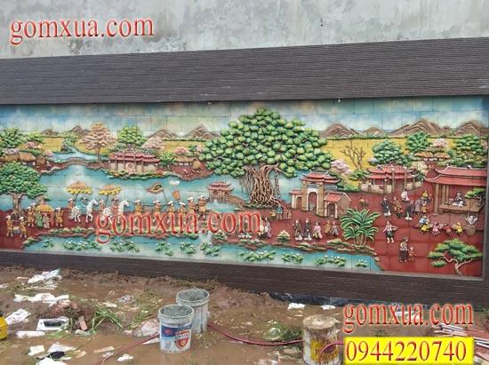 Bức tranh Vinh Quy Bái Tổ trước sân nhà