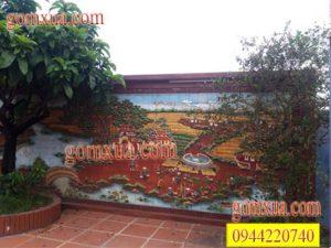 Tranh gốm trang trí sân vườn tiểu cảnh
