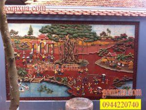 Mẫu tranh gốm đồng quê đẹp nhất